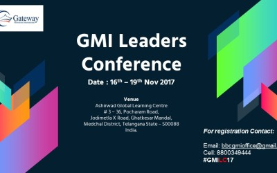 GMI Leaders Conference 16th to 19th November 2017